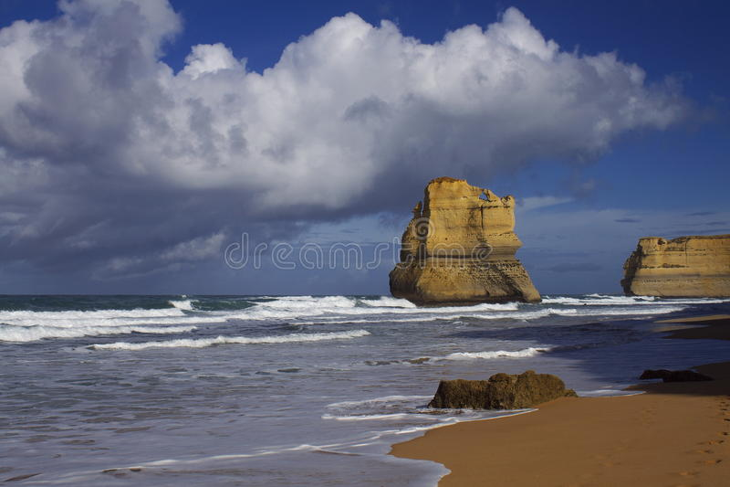 Rock and ocean stock photo
