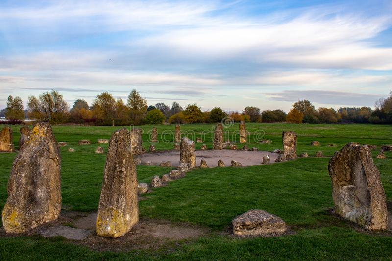 Medicine wheel in the park royalty free stock image