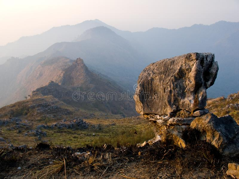 A rock over The Hills. stock photography