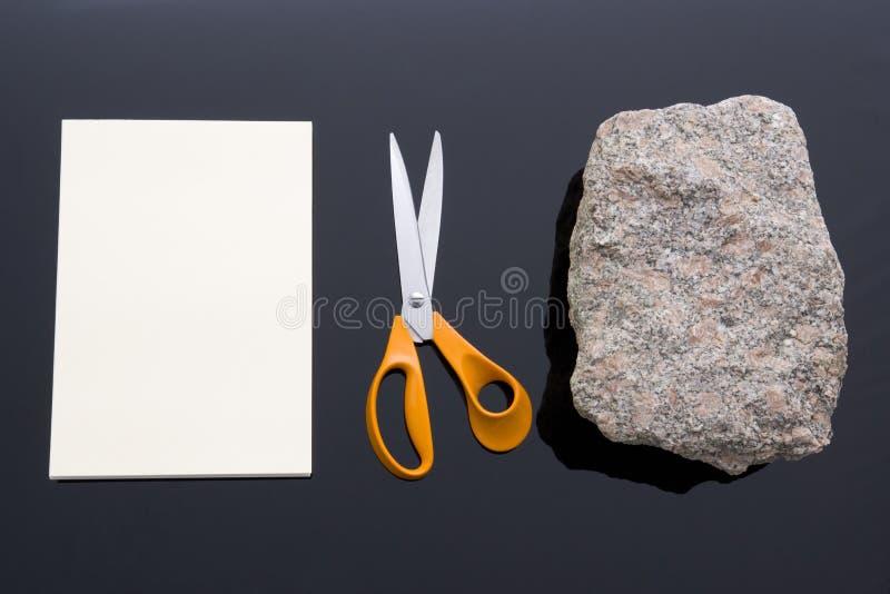 Rock, Paper, Scissors stock image