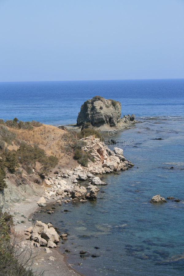 A rock in Paphos stock images