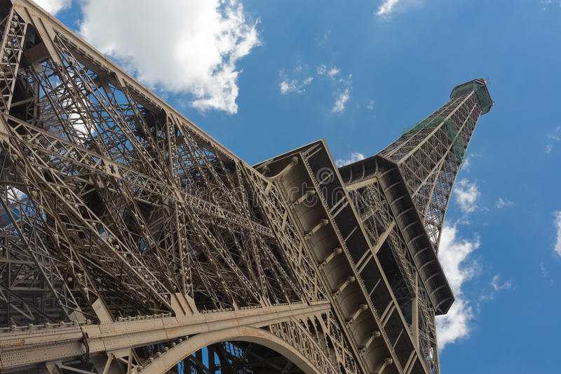 Rock in Paris. Eiffel tower in Paris in blue sky stock photos