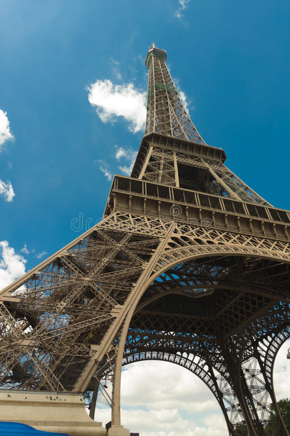 Rock in Paris. Eiffel tower in Paris in blue sky royalty free stock photo