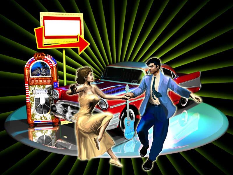 Download Rock party stock illustration. Illustration of flag, celebration - 25047169