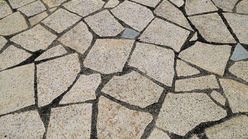 Rock pattern flooring background stock photos