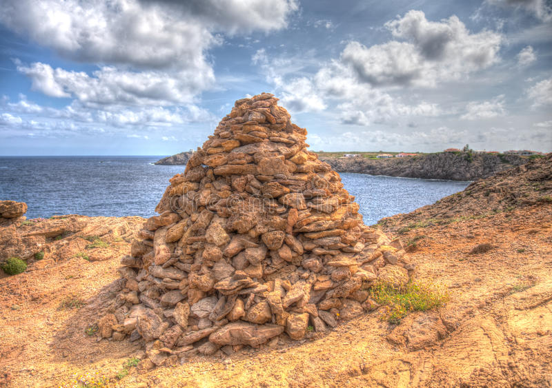 Rock Pile. In minorca spain royalty free stock images