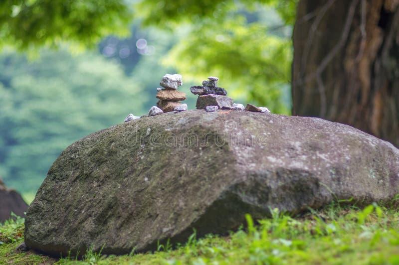 Rock pile from Haeinsa Temple - UNESCO World Heritage List - South Korea.  royalty free stock photo