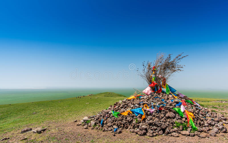 Rock pile. In the meadow royalty free stock photo