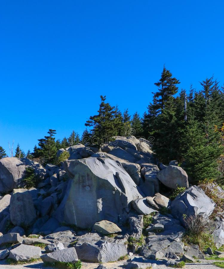 Rock Pile in the North Carolina Mountains stock images
