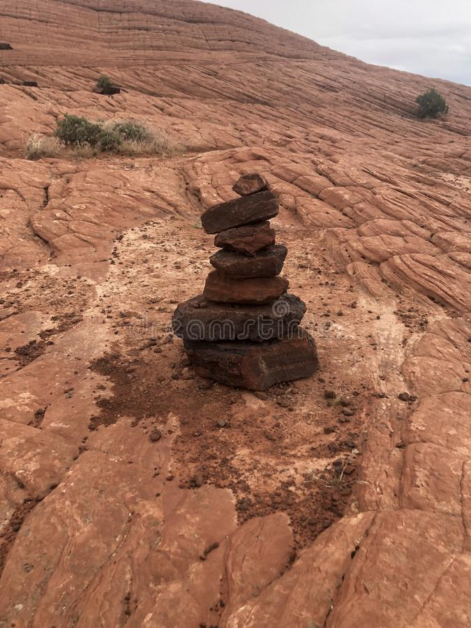 Rock Pile. In Snow Canyon royalty free stock images