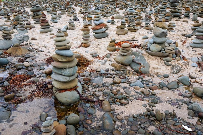 Rock Piles, Great Ocean Road, Victoria, Australia royalty free stock photography