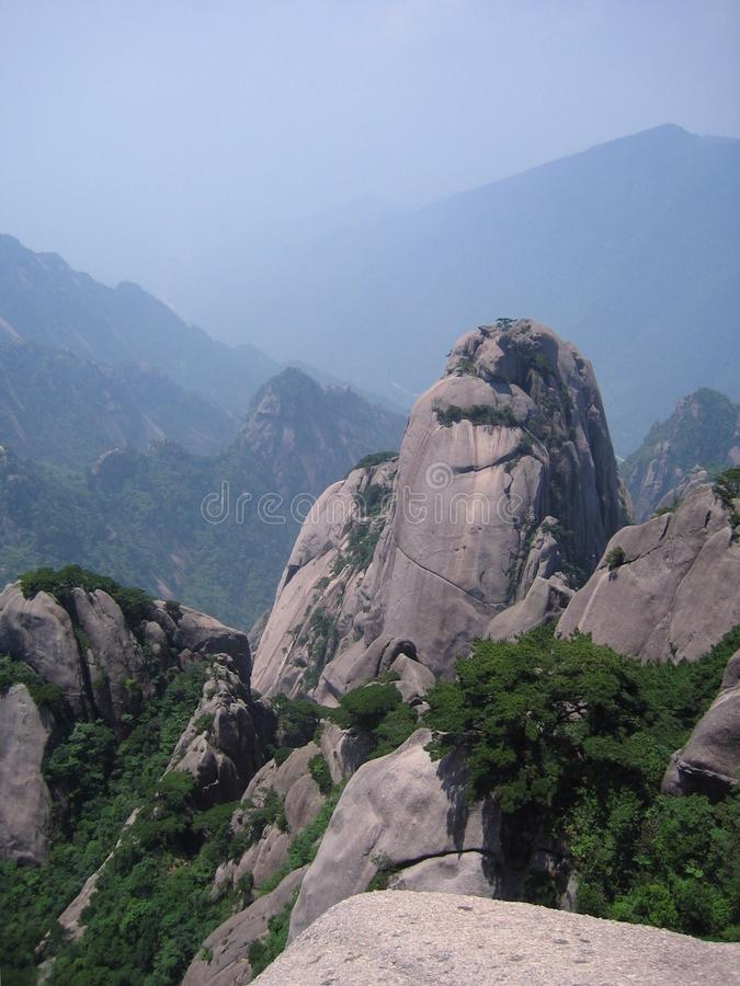 Rock pillar. In the Huangshan mountains in Anhui, China royalty free stock images