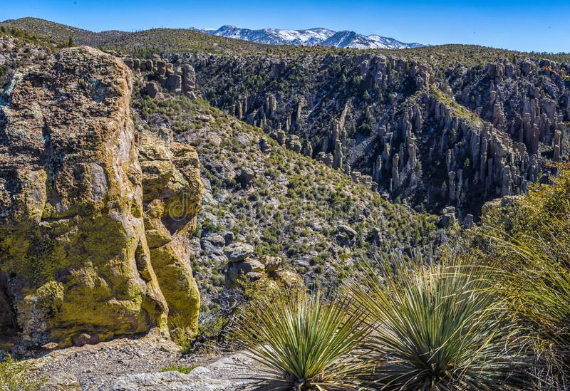 Rock Hoodoos of Chiricahua National Monument. stock images