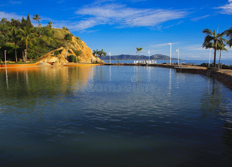 Download Rock Pool on the Strand stock image. Image of paradise - 14618331