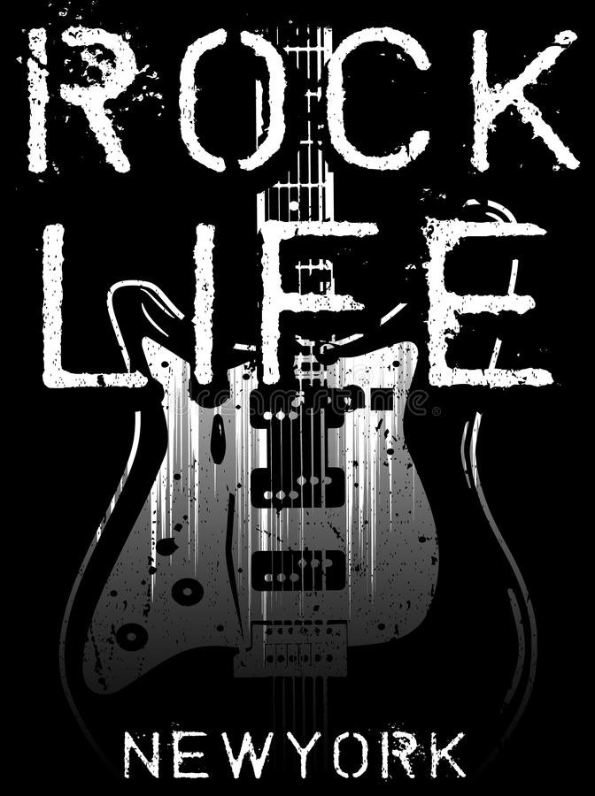 Rock poster, vintage rock and roll typographic for t-shirt;. Tee design; poster; vector illustration fashion style stock illustration