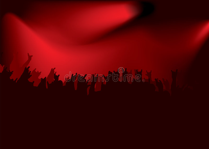 Download Rock red concert stock vector. Image of light, gothic - 4241202