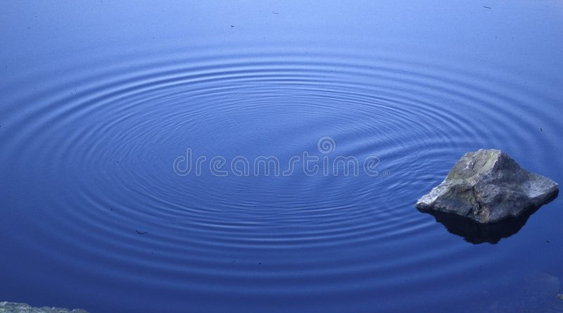 Rock and Ripples royalty free stock images