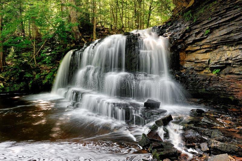 Rock river Falls -Chatham Michigan USA stock image