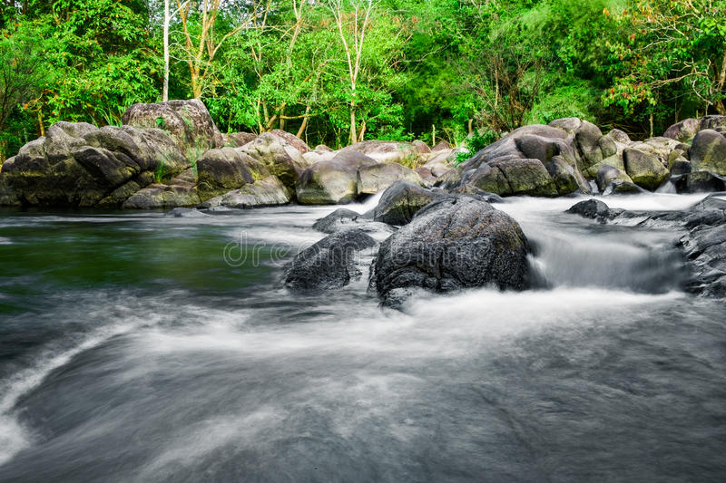 Rock river rapids in national park. Suan phung,ratchaburi,thailand royalty free stock image