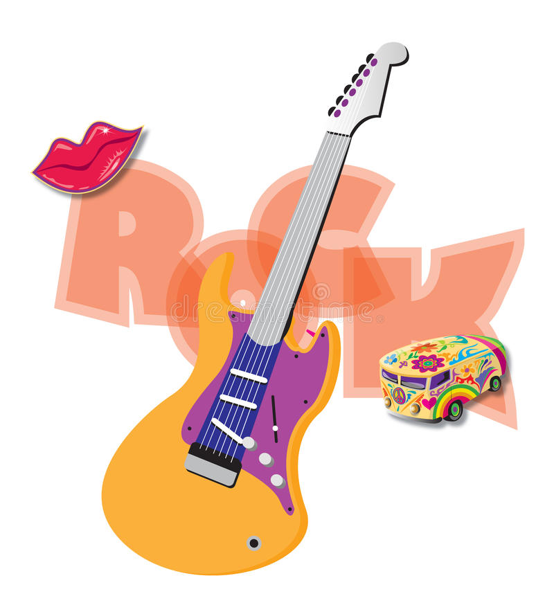 Rock and roll royalty free illustration