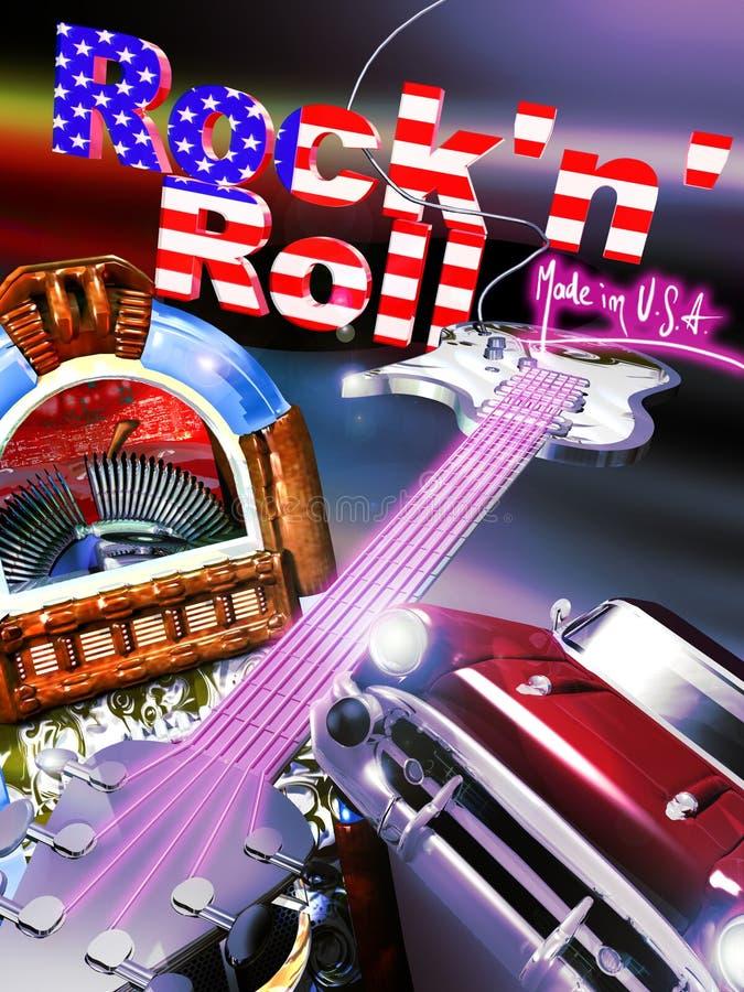 Rock and roll ilustração royalty free