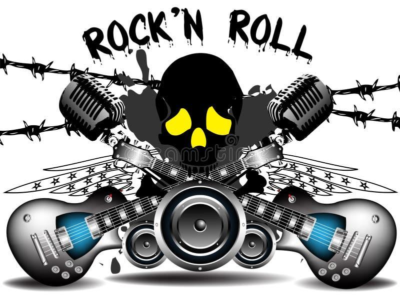 Rock-and-roll stock de ilustración