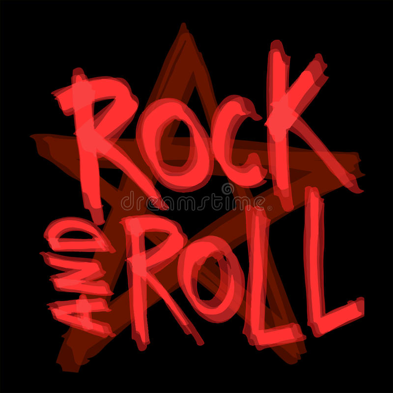 Rock and roll background design. Vector illustration. royalty free stock images