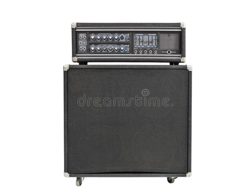 Rock and Roll Bass Amplifier Isolated stock photos
