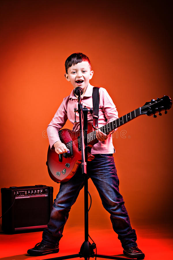 Rock and Roll boy stock image