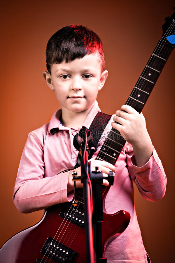Rock and Roll boy royalty free stock photography