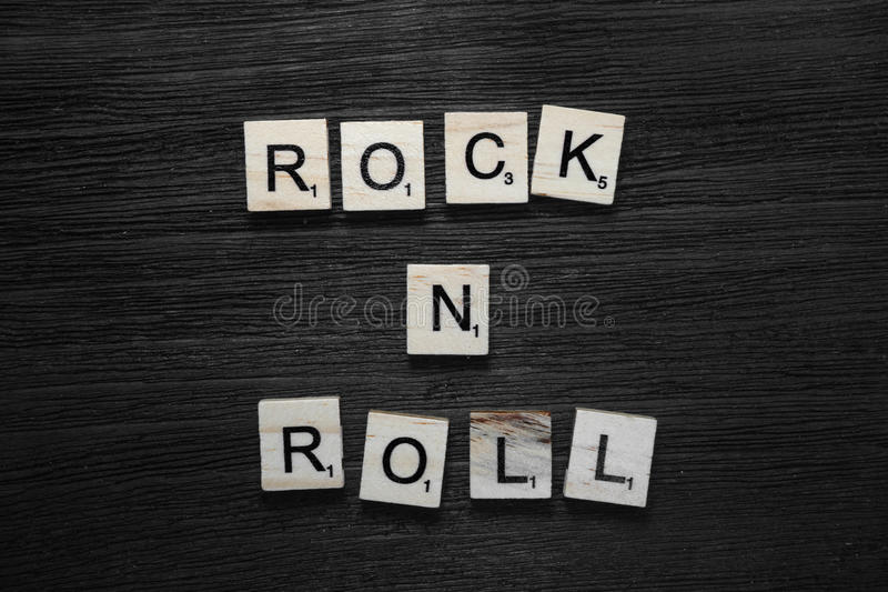 Rock and roll concept stock photography