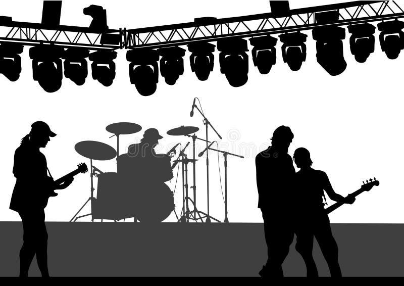 Rock and roll das guitarra ilustração do vetor