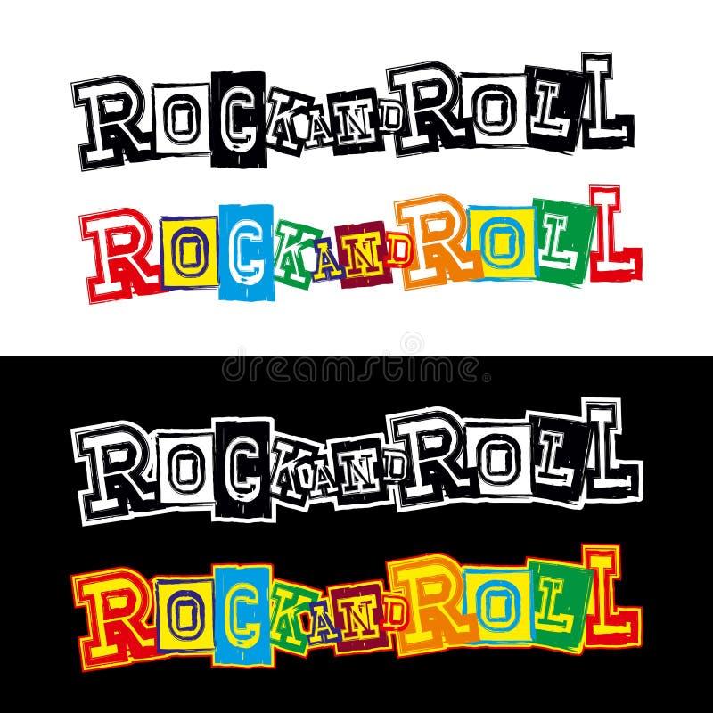 Rock-and-roll de las letras ilustración del vector