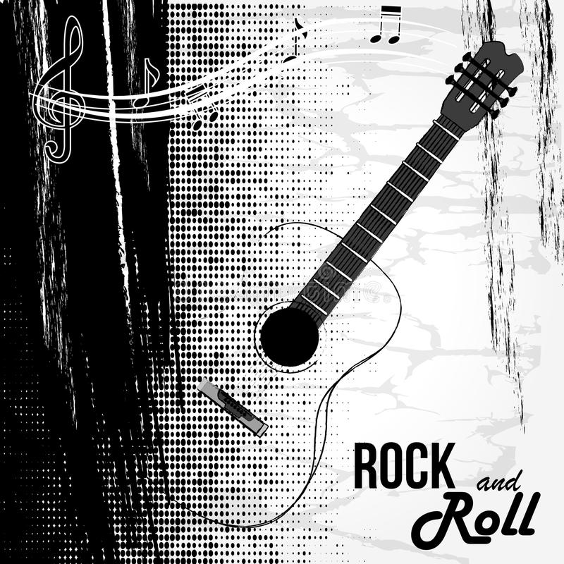 Rock and roll design. Over white background vector illustration stock illustration