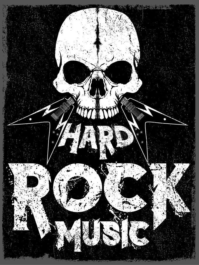 Rock and roll do vintage do cartaz da estrela do rock tipográfico para o t-shirt t ilustração royalty free