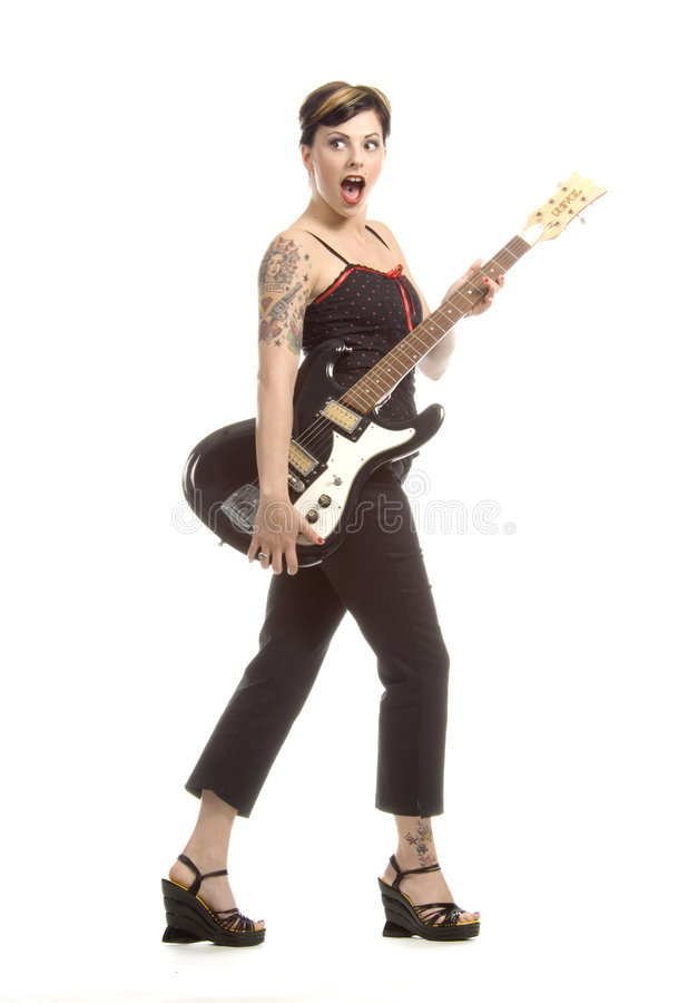 Rock and roll e mulheres fotografia de stock