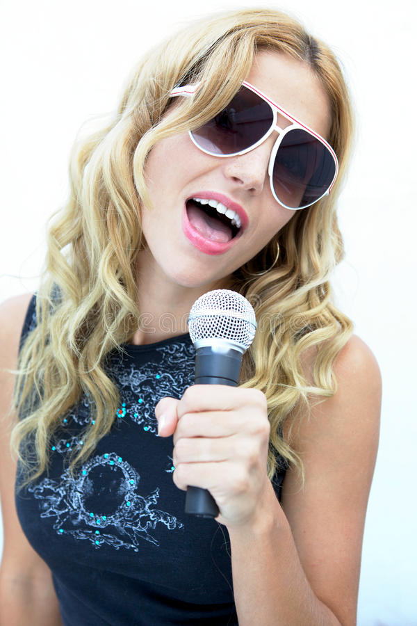 Download Rock And Roll Female Singer, Female Rock Star Stock Image - Image: 10250115