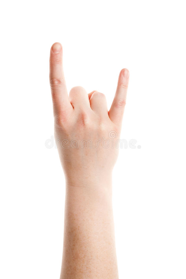 Download Rock and Roll gesture stock image. Image of human, metal - 23540785