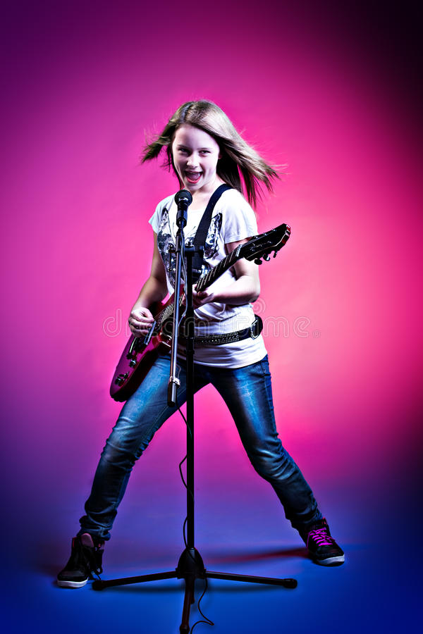 Rock and Roll girl royalty free stock image