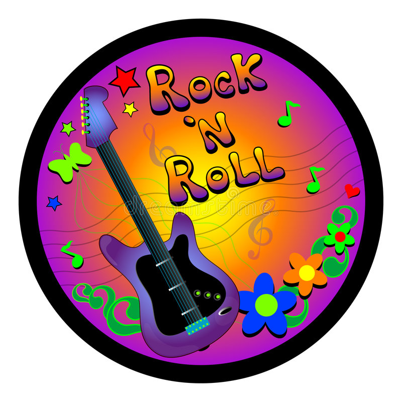 Rock and Roll Graphic stock illustration