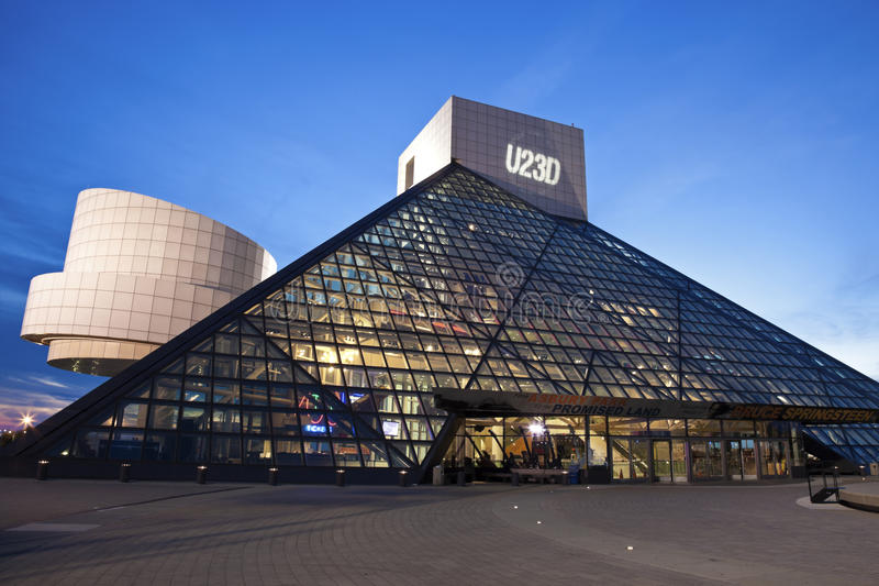 The Rock and Roll Hall of Fame royalty free stock photos