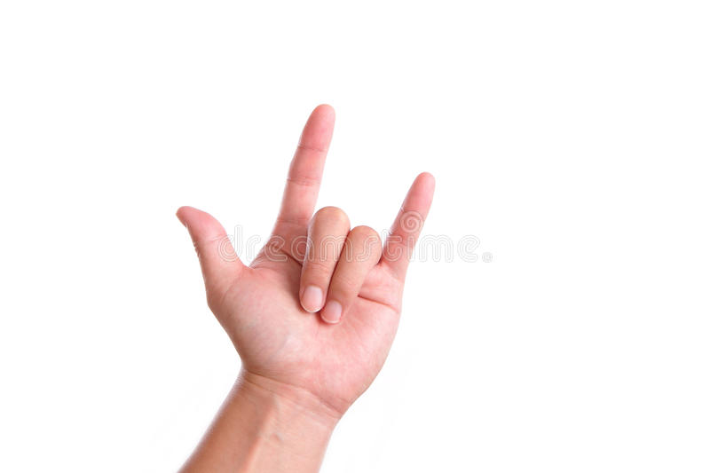 Download Rock and Roll Hand gesture stock image. Image of finger - 22268883