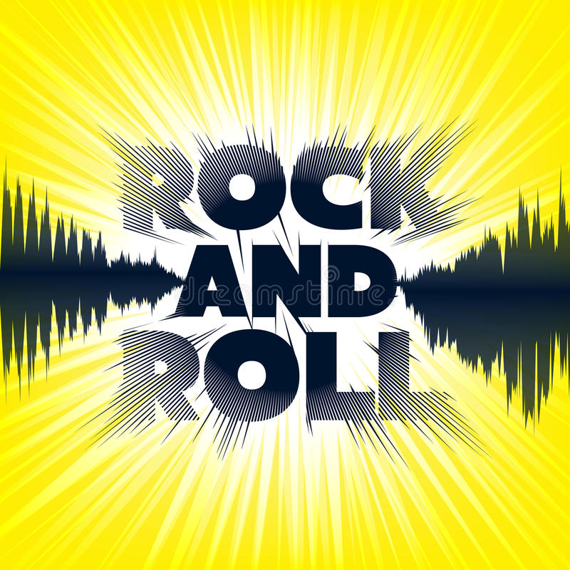 Rock-and-roll. Lettering. stock illustration