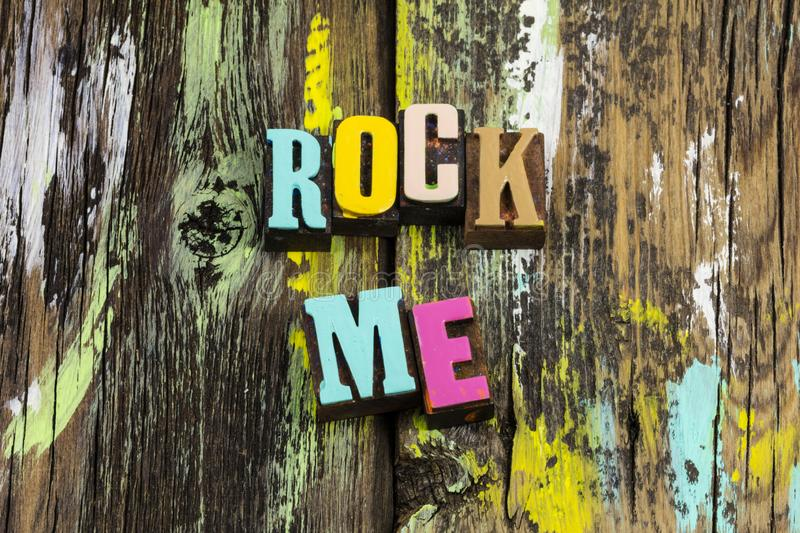 Rock roll love me music lead guide together forever stock photography
