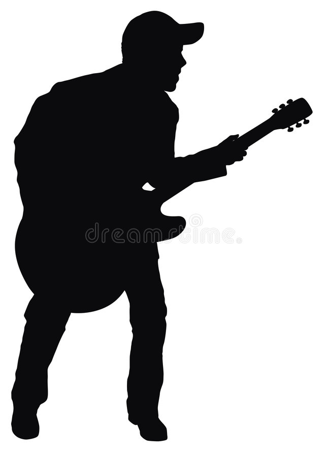 Download Rock-and-roll man stock illustration. Image of instrument - 4239900