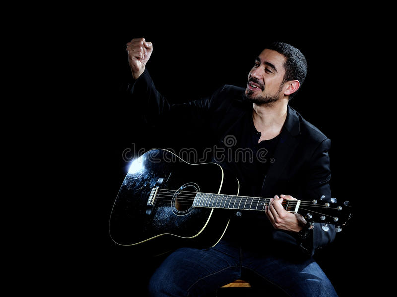 Rock and roll men royalty free stock photos