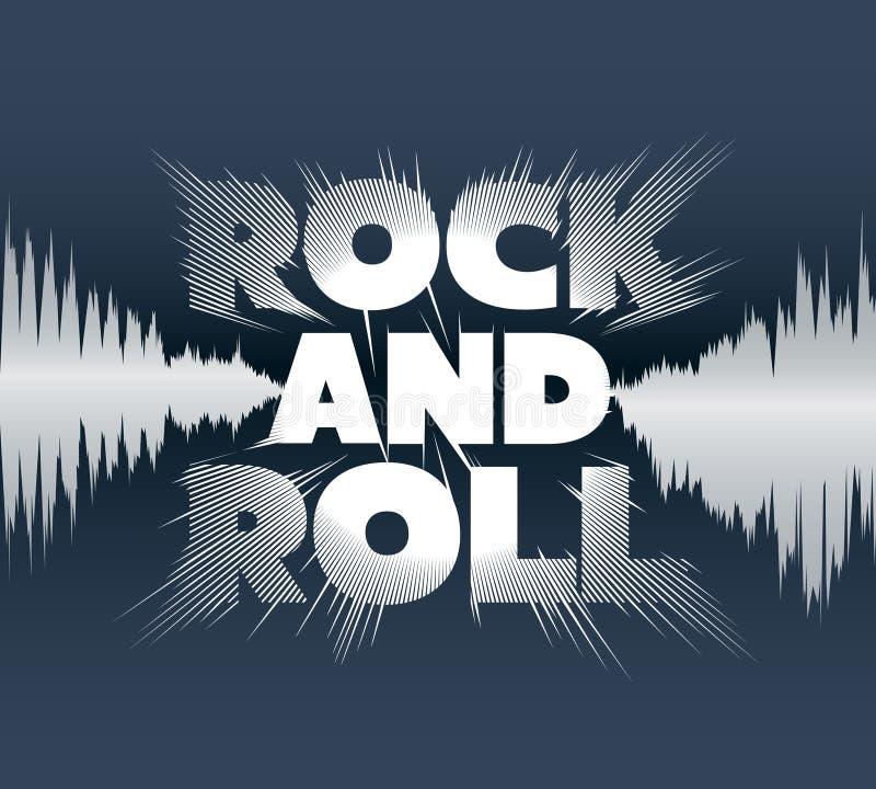 Rock and roll pisać list obraz stock