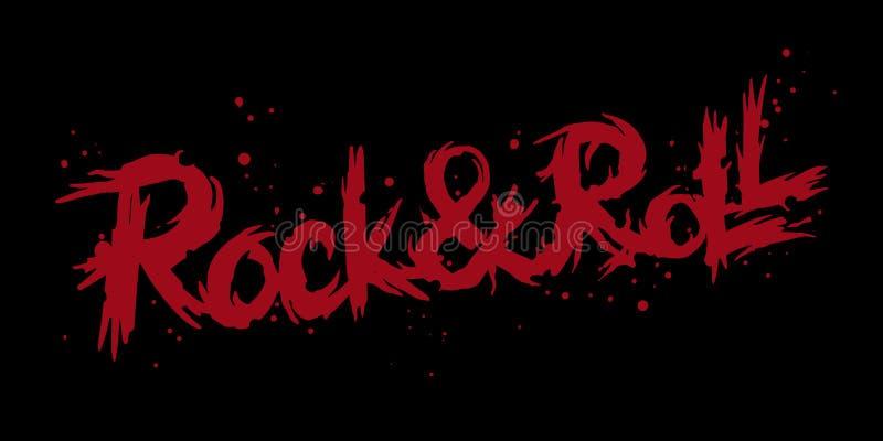 Rock and roll que rotula o logotipo imagens de stock royalty free