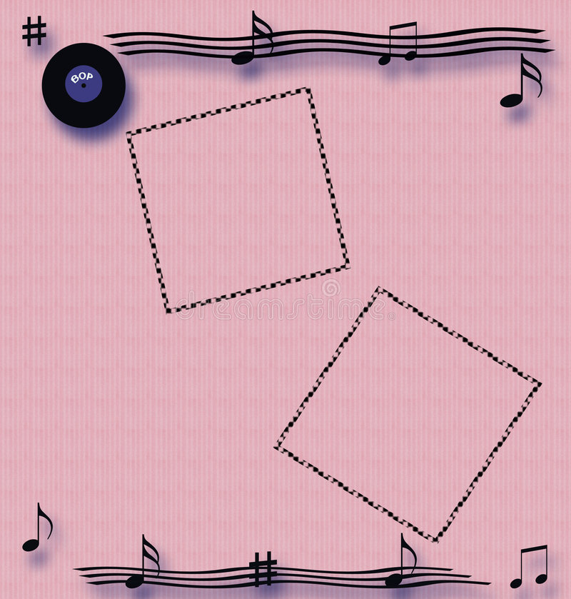 rock roll scrapbook απεικόνιση αποθεμάτων