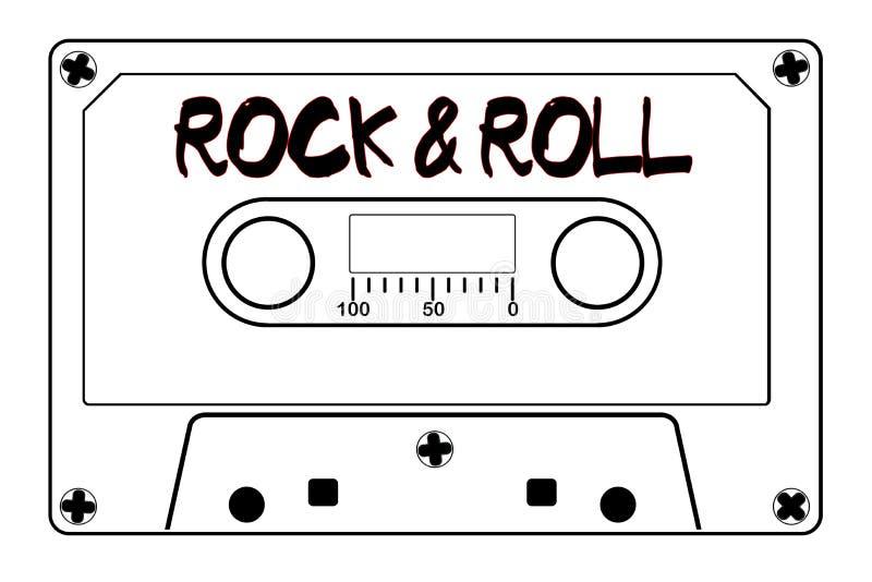 Rock And Roll taśmy Muzyczna kaseta royalty ilustracja